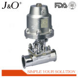 Válvula de diafragma neumática sanitaria de actuador del acero inoxidable