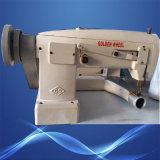 Máquina de costura usada ziguezague dourado do Alimentar-fora--Braço da alimentação da parte inferior do Lockstitch da agulha da roda do único