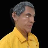 Disfraz de látex celebridad famosa Máscara de Barack Obama
