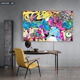 Abstraktes Wand-Kunst-Kind-Raum-Karikatur-Ölgemälde