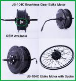 Motor engranado del eje de la rueda trasera de Jb-104c 48V 500W Ebike