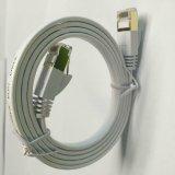 Стандарт общей плоской меди соединительного кабеля сети Cat7 белый