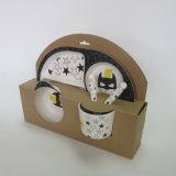 Bambusfaser-Kinder stellten mit Set des Karikatur-buntem Entwurfs-5PCS ein