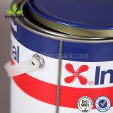 De V.N. schatten om 4L het Afgedrukte Blik van het Tin van het Metaal van de Verf met Deksel en Handvat