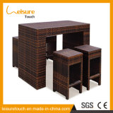 Outdoor Patio Pub Furniture Alumínio Bistro Chair Rattan Bar Cadeiras e conjunto de mesa