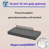 GoIP 16/16 IMEI Verandering 16 GSM van de Haven GSM van de Band van de Vierling van de Gateway de Anti Blokkerende Gateway van het SLOKJE SIM