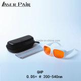 Eyepatch Glas-Laserlicht-Schutz-Augenschutz-Schutzbrille für Excimer, ultraviolettes, grüner Laser mit weißem Objektiv
