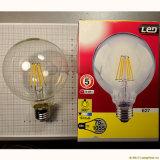 Luz de filamento 8W E27 G80 Lâmpada LED