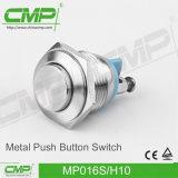 Edelstahl-hoher Hauptdrucktastenschalter CMP-16mm (MP016S/HJ)