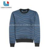 高品質の人の長い袖が付いている縞で飾られた綿のプルオーバー