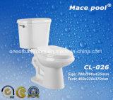 Gabinetto a due pezzi di ceramica delle tolette per la stanza da bagno (CL-026)