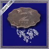 지르코니아 보석을%s 아주 소형 1mm 화려한 별 커트 빛나는 명확한 백색 CZ 원석