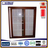 Elevación de aluminio de gran tamaño y puerta corredera con marcos de aluminio y doble vidrio
