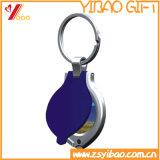 Kundenspezifisches Decklack-Metall Keyholder, Keychain, Schlüsselring-Förderung-Geschenk (YB-HR-395)