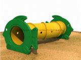 Traforo variopinto esterno di plastica del giocattolo dei capretti della strumentazione dei giochi dei bambini del campo da giuoco