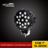 "7"" 51W High Power LED de luz para la conducción offroad ATV"