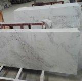 Полированный белыми мраморными столешницами для кухни и ванной комнаты
