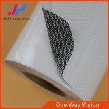 Vinilo unidireccional de la visión del PVC del pegamento negro permanente