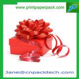 Коробка изготовленный на заказ подарка бумаги тесемки упаковывая