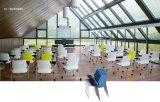 Stapeln des beweglichen Studien-Trainings-Stuhls mit Schreibens-Auflage