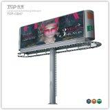 Outdoor grand pôle Boîte à lumière, double face Panneau publicitaire Trivision