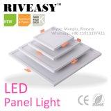 Profilé en aluminium et plastique dos carré voyant de panneau à LED 6 W