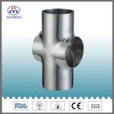 Les mesures sanitaires soudés en acier inoxydable de type court Croix (SMS-No. NM033147)