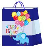 bolsa de papel del diseño del cumpleaños 3D para el partido del bebé con el gancho de leva