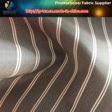 Tela tejida raya teñida de los hilados de polyester para la guarnición de Grment (S50.52)