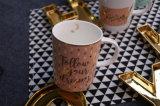 Populäres goldenes Abziehbild-keramischer Becher
