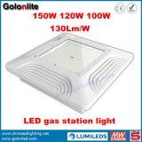 Éclairage LED extérieur enfoncé de station-service du support 100W 120W 150W de plafond de l'Amérique