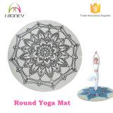 Couvre-tapis rond fait sur commande estampé en gros de yoga de méditation de transfert thermique