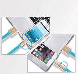 iPhone Samsungのための1つの充電器ケーブルに付き着色された引き込み式の2つ