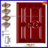 Puerta de lujo del compuesto de madera sólida de la seguridad de la entrada