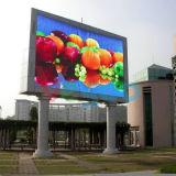 P10 che fa pubblicità allo schermo di visualizzazione esterno del LED di colore completo di ventilazione