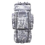 Militärischer taktischer im Freien kampierender reisender 65L Aluminiumrucksack des rahmen-1000d