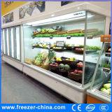 Refrigerador de aire abierto vegetal comercial del refrigerador