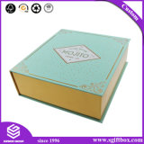 Contenitore di regalo di carta su ordinazione del cartone di natale di nuovo modo di arrivo 2017 con la stagnola di oro