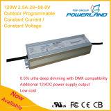 120W 2.5A Outdoor programmable Driver de LED étanche à courant constant