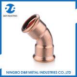 Articulação de cobre de alta qualidade Cintura de 45 graus