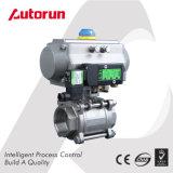 Valvola a sfera dell'azionatore di controllo pneumatico dell'acciaio inossidabile per il trattamento delle acque