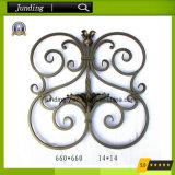 Painel decorativo da flor do ferro feito para a porta do ferro & os trilhos do ferro