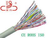 Cabo do áudio do conetor de cabo de uma comunicação de cabo dos dados do cabo do núcleo Cat5e/Computer do cabo da rede de cabo do LAN multi