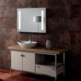 Nuevo diseño montado en la pared sin marco contra la niebla Espejo de baño con luz