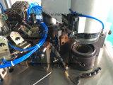 Máquina automatizada de los calcetines con el dispositivo de conexión y de torneado