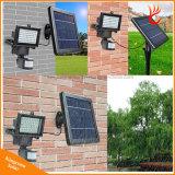 屋外60LED太陽動力を与えられた動きセンサーライトLED洪水ライト