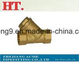 Encaixe masculino 2-Way do T da filial da compressão de bronze com porca