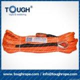 Fibra 100% resistente de Uhwmpe da corda da corda sintética do guincho Orange8.5mmx30m4X4
