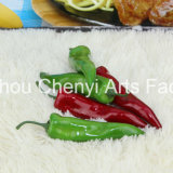 Rot Grün Chinese Peppers Simulierte Obst