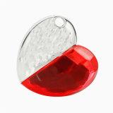 Collana di cristallo di Flashdisk del cuore dell'azionamento dell'istantaneo del USB del cuore dei monili